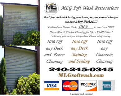 Get 10% of all Deck, Fence & Concrete Cleaning. And get and additional 10% of all staining and sealing!!